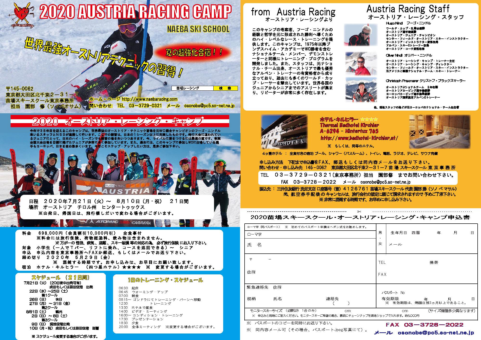 2020オーストリア・レーシング・キャンプ1